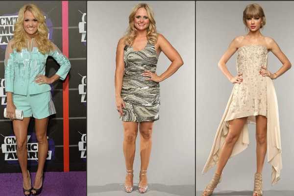 Vote best dressed country cutie at the cmt awards star for Carrie underwood and miranda lambert friends