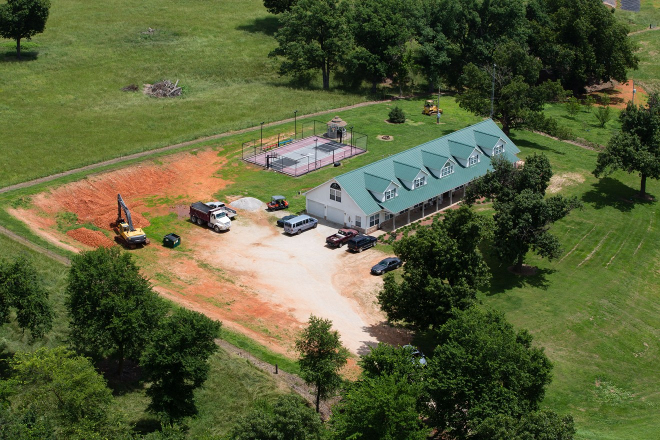 EXCLUSIVE: Aerial views of the Duggar family compound in Tontitown, Arkansas.
