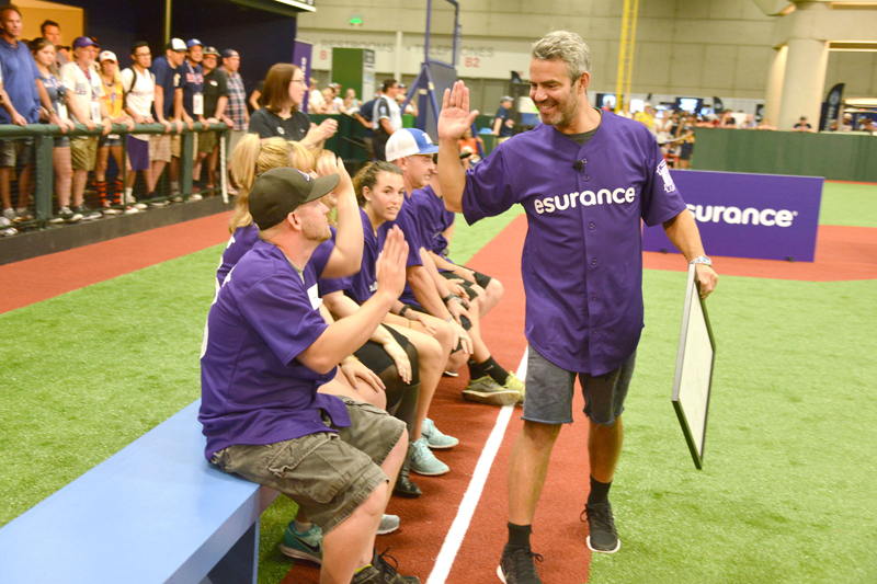Celebrity Captains Joel McHale and Andy Cohen Face Off in Esurance All Star Game Challenge at MLB AllStarWeekend