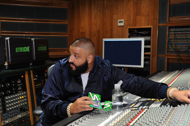 DJ Khaled Chews All-New Stride Gum Charged with Crunch Reactors While LayingDownATrack