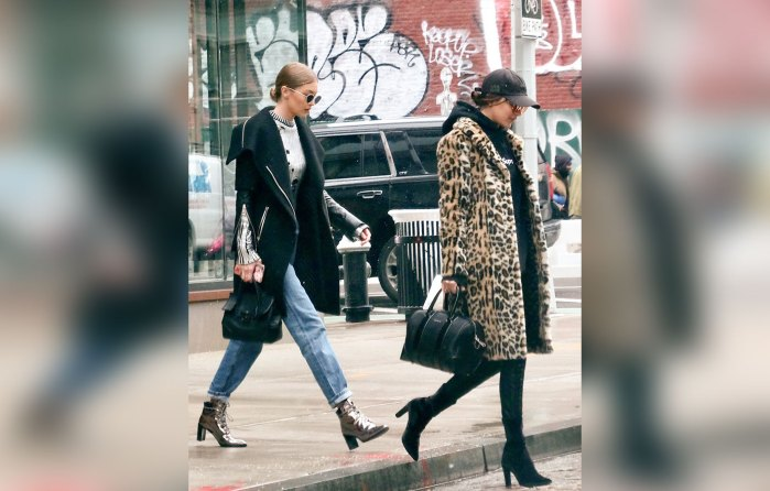 Gigi Hadid and Bella Hadid Out in the East Village