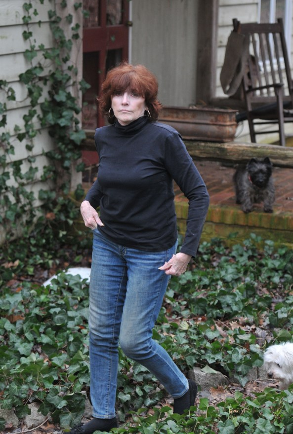EXCLUSIVE: Former Clinton Aide Kathleen Willey pictured outside her Virginia home.