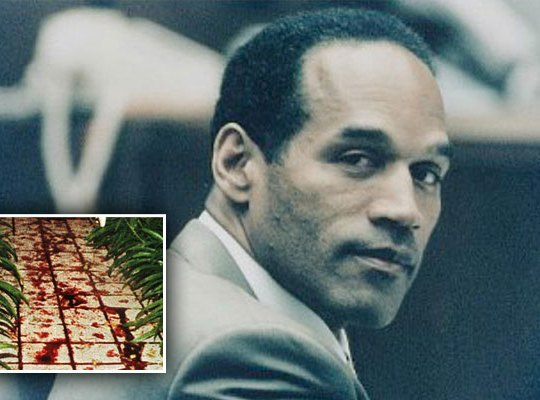 oj simpson crime scene photos