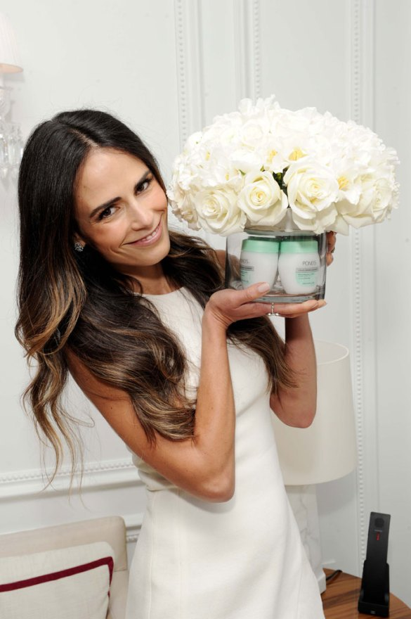 Jordana Brewster was spotted in NYC celebrating POND`S iconic Cold Cream Cleanser
