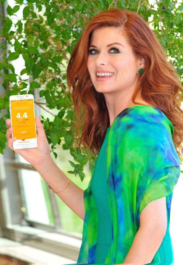 Debra Messing Using Zyrtec AllergyCast app
