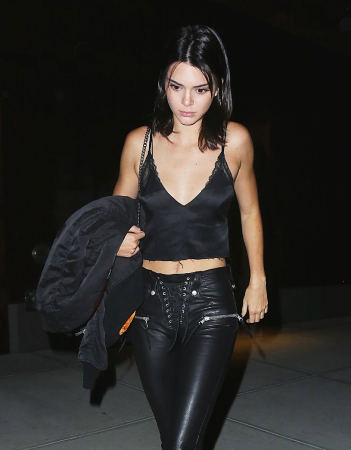 Kendall Jenner Steps out for dinner at Mr. Chow in NYC