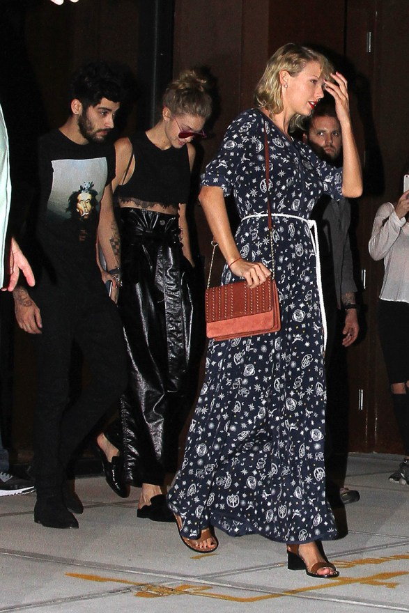 Taylor Swift Heads out with Gigi Hadid and Zayn Malik in NYC