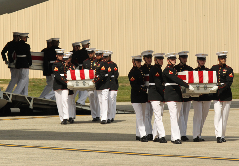 Obama Attends Transfer Of Remains Ceremony