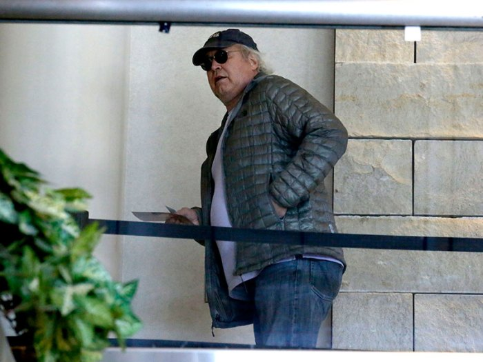 Comic legend Chevy Chase spotted boarding a flight out of Los Angeles