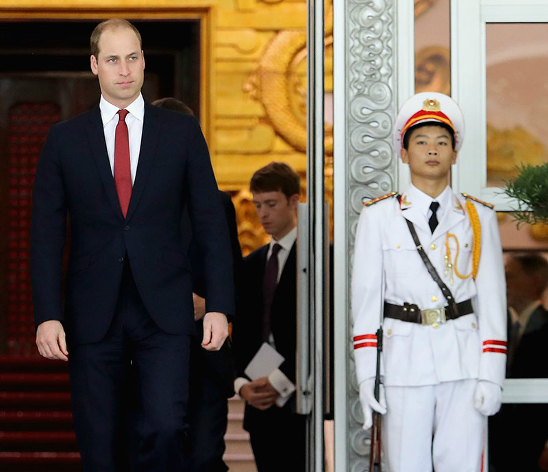 The Duke Of Cambridge Visits Vietnam – Day 1