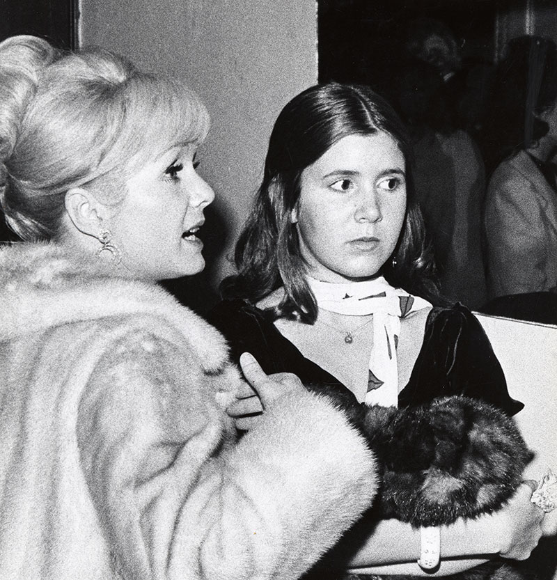 Debbie Reynolds and Carrie Fisher sighitng at the Town Hall, New York City for the School Benefit at Town Hall – November 6, 197