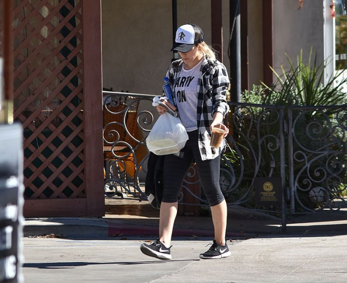 Hilary Duff is all smiles while out and about in Los Angeles