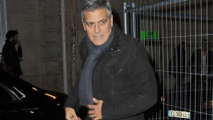 george clooney twins amal pregnant