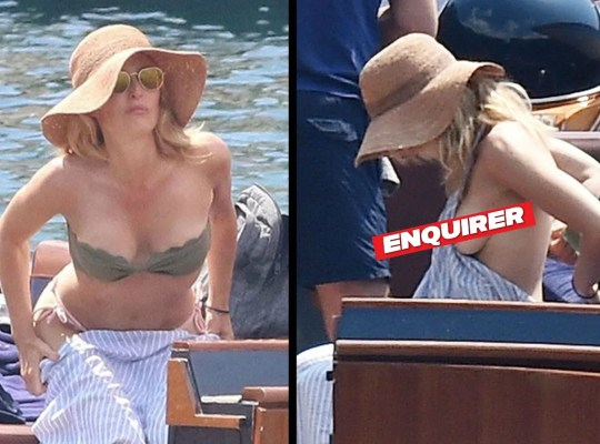 XXX-Files: Gillian Anderson Shows Off Her Bikini Bod In Italy thumbnail