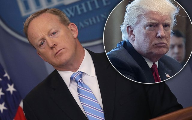 sean spicer resigned fired press secretary