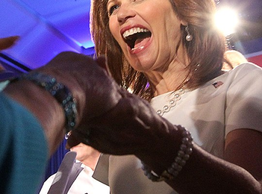 EXCLUSIVE: HIGH SCHOOL PALS BACKHAND MICHELE BACHMANN thumbnail