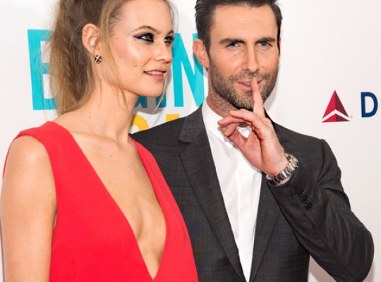 Levine's Bride Forbids Wild Parties As Pals Chuckle: 'Dream on, Behati!' thumbnail