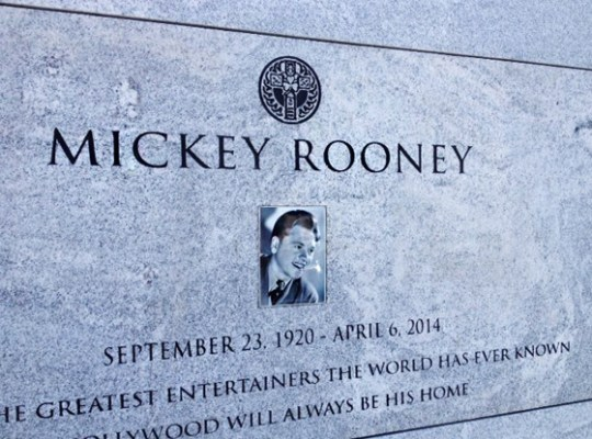 FINALLY, A RESTING PLACE FOR MICKEY ROONEY thumbnail