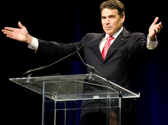 RICK PERRY EMBRACES DEMON-SEEING, GAY BASHING RELIGIOUS LEADER thumbnail