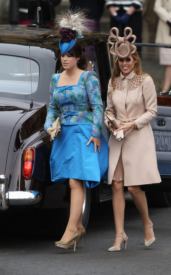 Princess Eugenie and Princess Beatrice, daughters of Sarah Ferguson and Prince Andrew