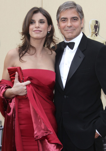Nominee George Clooney and Elisabetta Canalis