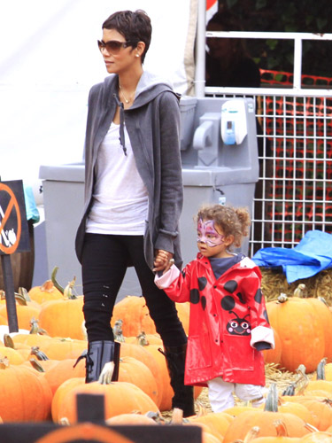 Halle Berry and her daugther Nahla