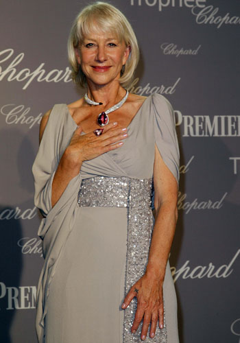 Helen Mirren at the Chopard 150th anniversary party
