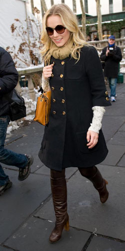 Kristen Bell in NYC's Bryant Park