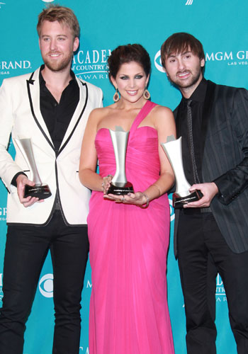 Lady Antebellum's Charles Kelley, Hilary Scott and Dave Haywood