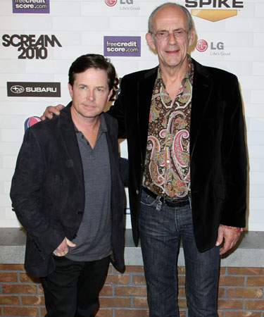 Michael J. Fox and Christopher Lloyd