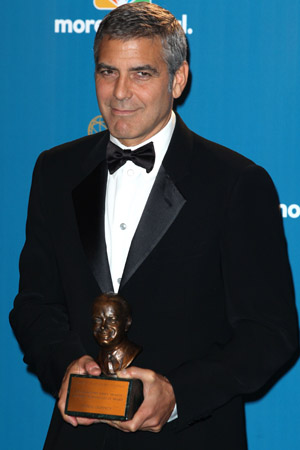 George Clooney with his Bob Hope Humanitarian Award