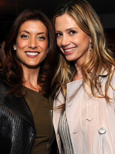 Kate Walsh and Mira Sorvino at the after-party for <i>Angels Crest</i>.