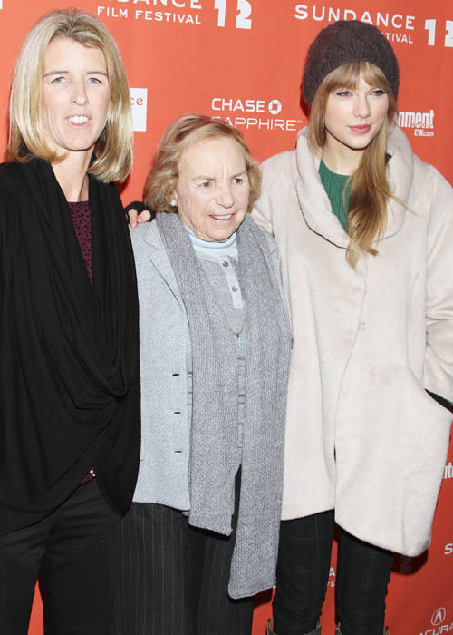 Rory Kennedy, Ethel Kennedy and Taylor Swift at the premiere of <I>Ethel</I>.