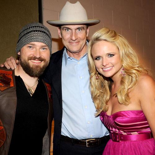 Zac Brown, James Taylor and Miranda Lambert