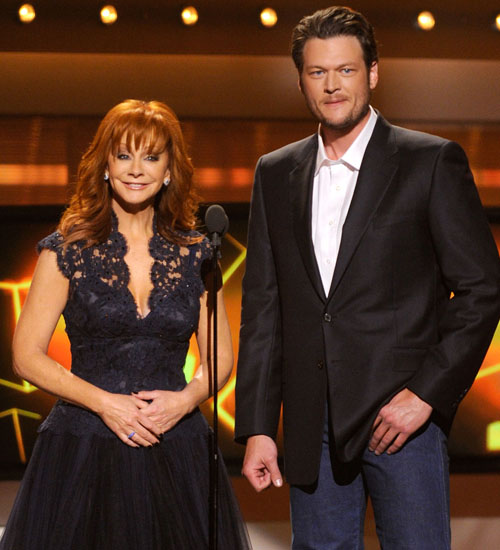 Reba McEntire and Blake Shelton