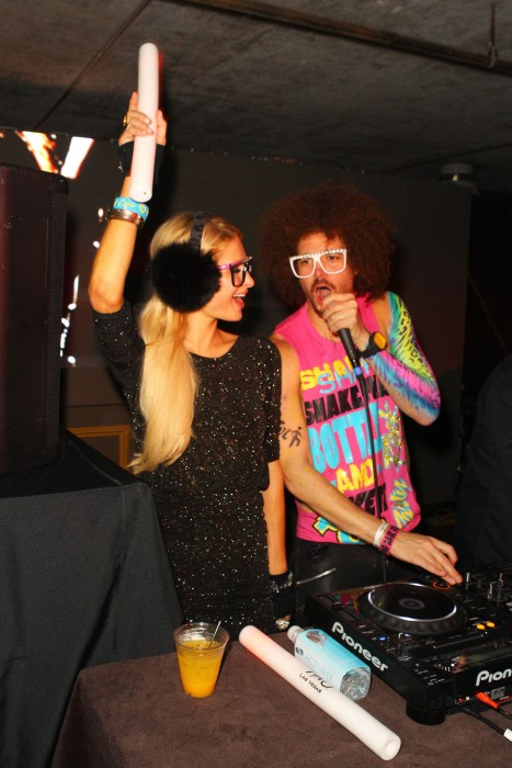 Paris Hilton and LMFAO's Redfoo party at T-Mobile Presents Google Music at Tao.