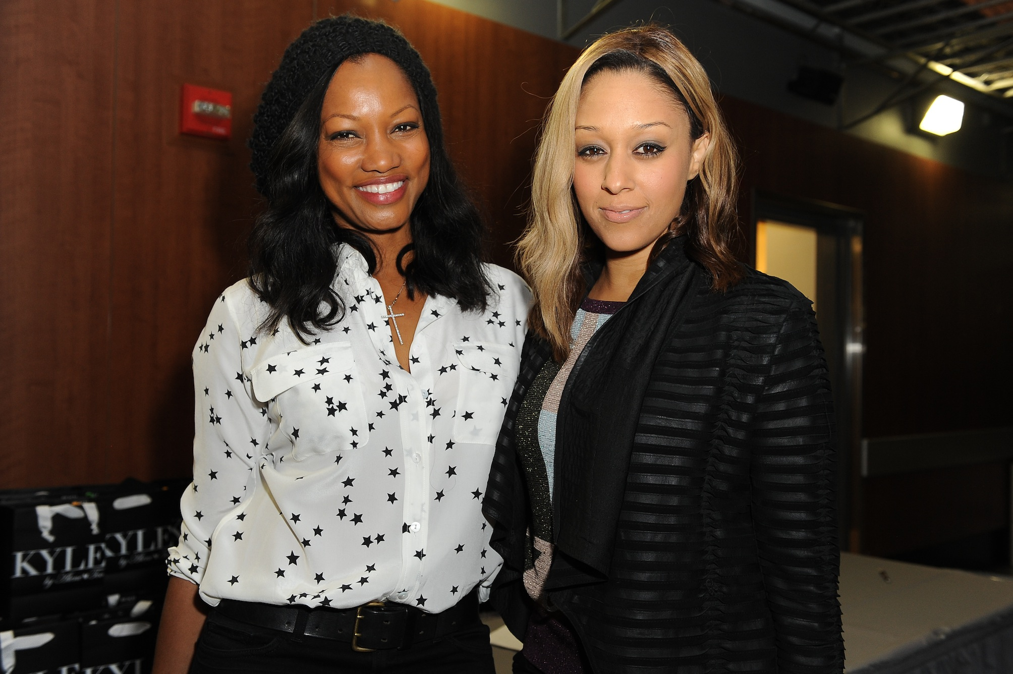 Garcelle Beauvais and Tia Mowry at Kyle by Alene Too Lakers Event