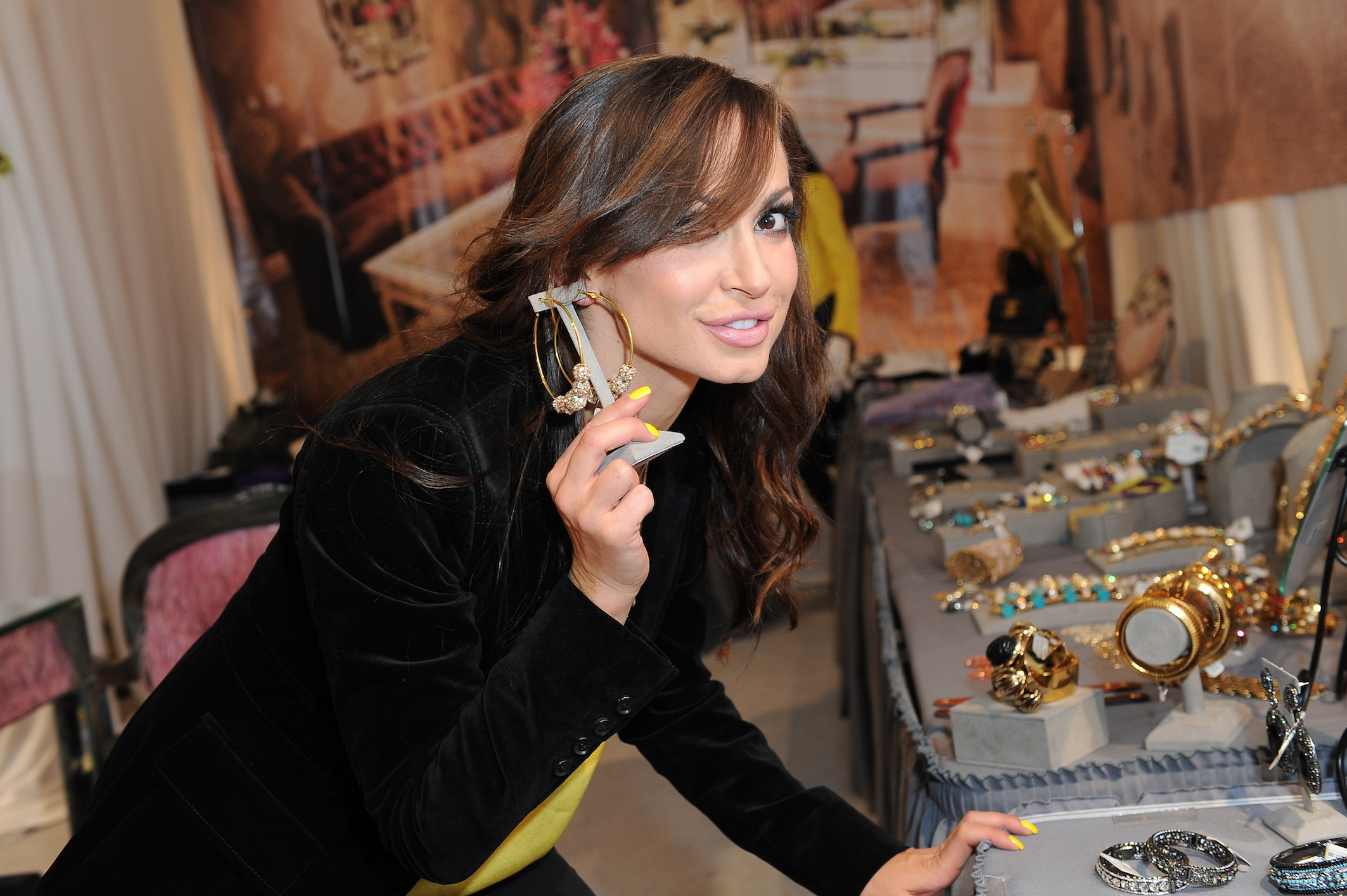Karina Smirnoff at Kyle by Alene Too Lakers Event
