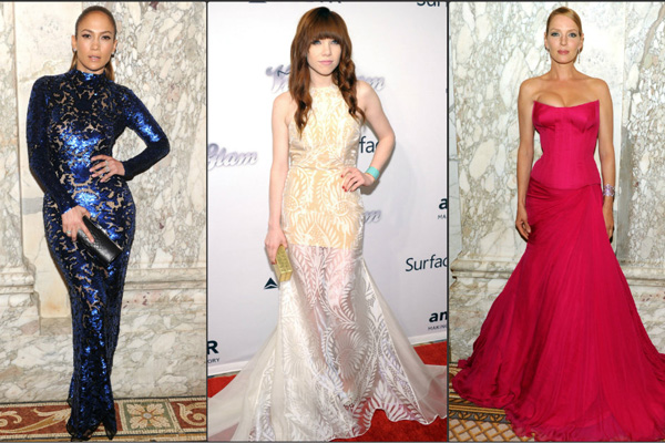 Jennifer Lopez, Carly Rae Jepsen, Uma Thurman