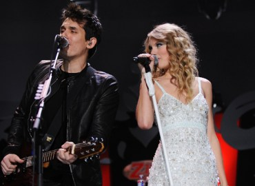 John Mayer and Taylor swift Z 100 Jingle Ball