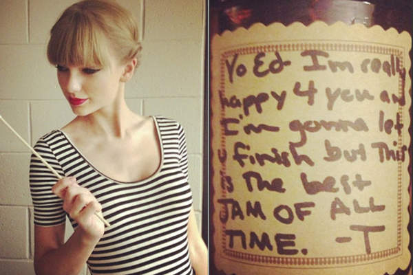 Taylor Swift & jar of Jam