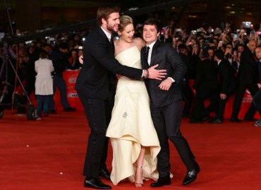 Liam Hemsworth, Jennifer Lawrence & Josh Hutcherson