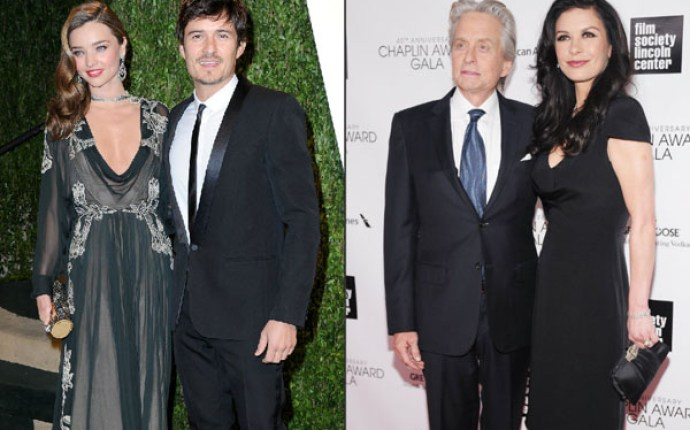 Miranda Kerr & Orlando Bloom, Michael Douglas & Catherine Zeta Jones