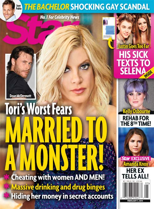 THIS WEEK IN STAR: Tori Spelling Married to a Monster | Star
