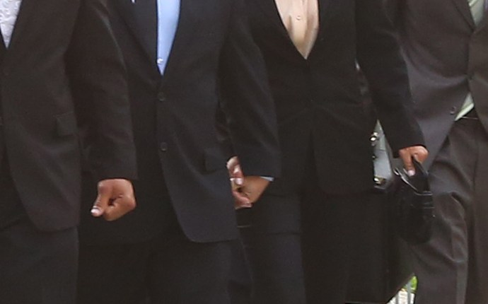 Teresa Giudice and her husband Joe Giudice arriving to court today in Newark, NJ