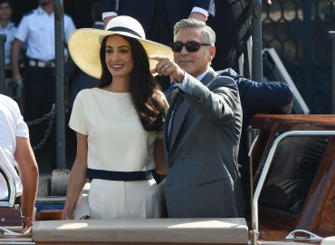 George Clooney and Amal Alamuddin get married in Venice