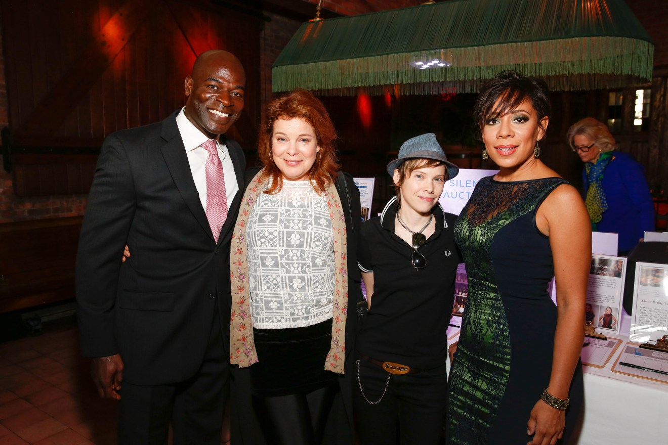 Doe Fund Sweet New York_Hisham Tawfiq from The Blacklist with Cast of Orange is the New Black_Photo Credit Shahar Azran