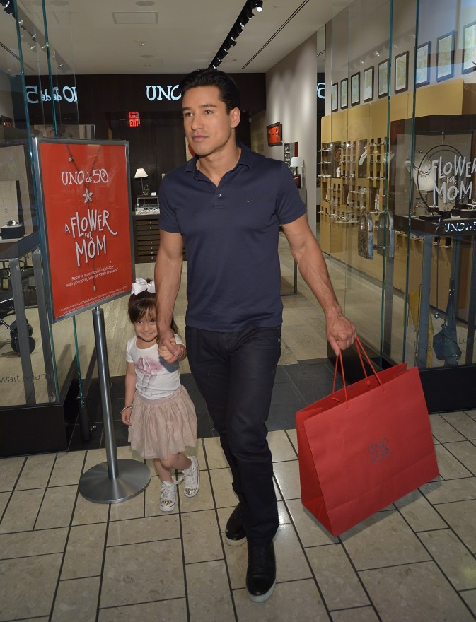 Mario Lopez and daughter Gia go Mother's Day Shopping at UNOde50 Boutique