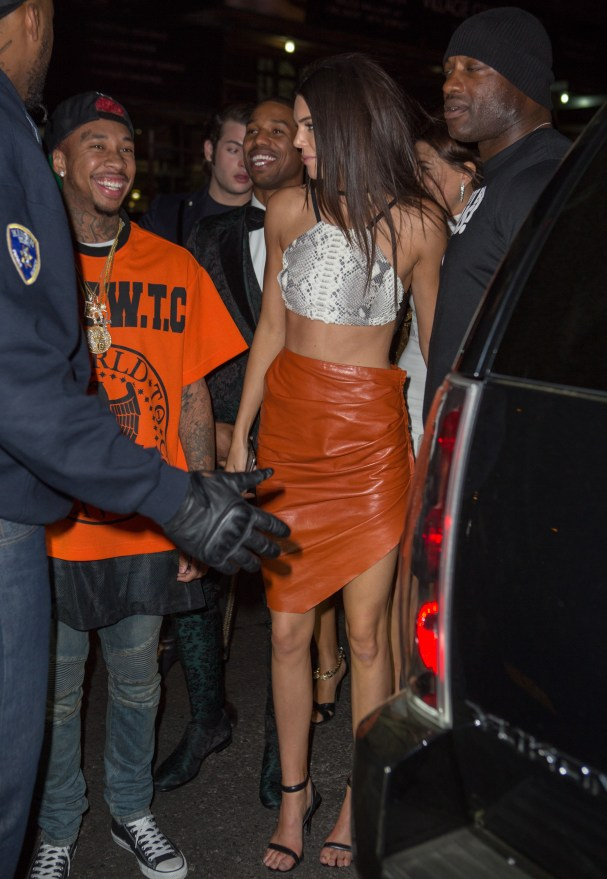 Michael B. Jordan, Tyga and Kendall and Kylie Jenner arrive at Rihanna's Met Gala after party