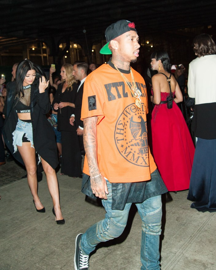 Kylie Jenner and Tyga arriving at the Standard Hotel for a Met Gala After party in Soho, New York City